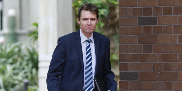 Loading Colin Craig arriving at Auckland High Court today. Photo / Nick Reed