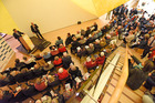 Tauranga Art Gallery was packed with residents for the Tauranga Mayoral Candidates Forum. PHOTO/GEORGE NOVAK
