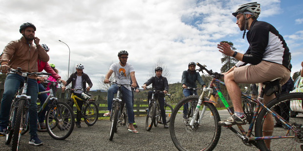 Loading Waiariki BOP Polytechnic students set to head of for a ride around Springfield on bicycles. Photo/Stephen Parker