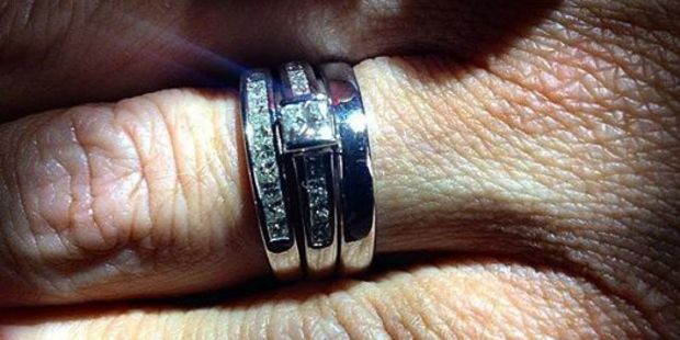 Sarah's rings are among the jewelry stolen from Brett Morrison's Papamoa home. Photo/supplied