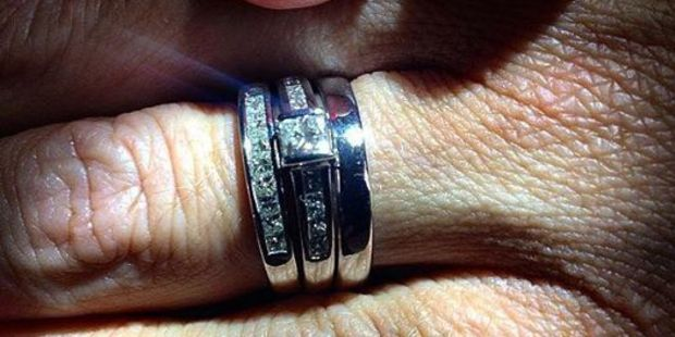 Sarah's rings are among the jewellery stolen from Brett Morrison's Papamoa home. PHOTO/SUPPLIED