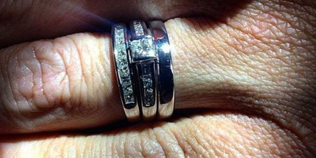 Sarah's rings are among some of the things stolen from Brett Morrison's Papamoa home. Photo/Supplied