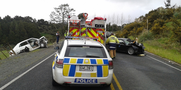 One person had to be cut free of their crashed car after a collision at Glenbervie.