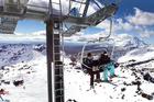 A $7.5m dollar chairlift began operating at Whakapapa Ski Area this season. Photo / Alan Gibson
