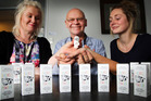 Brooke, Alan and Rose Smith with their recently launched Ouchie Powder. Photo/ Stuart Munro