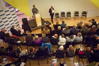 Voters came out to hear from Tauranga City Council election candidates. PHOTO/ANDREW WARNER