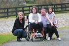 Gabby Wright, with her parents Vanessa and Clinton, and sister, Felicity, is tackling the challenge of being paralysed. Photo / Doug Sherring