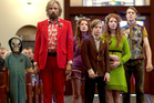 Charlie Shotwell stars as Nai, Viggo Mortensen as Ben, Annalise Basso as Vespyr and Shree Crooks as Zaja in Captain Fantastic. Photo / Regan MacStravic