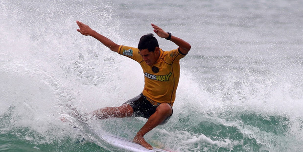 Kehu Butler in form at junior world surfing champ. PHOTO/FILE