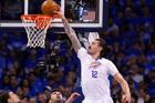 Oklahoma City Thunder center Steven Adams fell victim to several shots 'below the belt' last season. Photo / AP