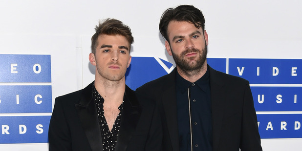 Andrew Taggart, left, and Alex Pall of The Chainsmokers. Photo / AP