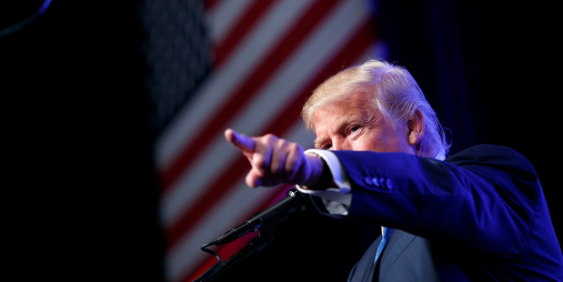Republican presidential candidate Donald Trump speaks during a campaign rally. Photo / AP