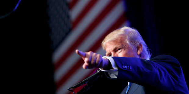 Donald Trump speaks during a campaign rally at the James L. Knight Center in Miami. Photo / AP