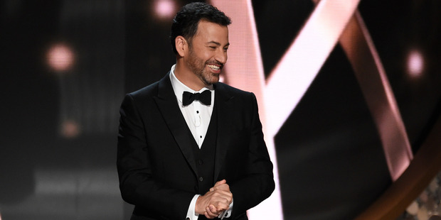 Host Jimmy Kimmel appears at the 68th Primetime Emmy Awards. Photo / AP
