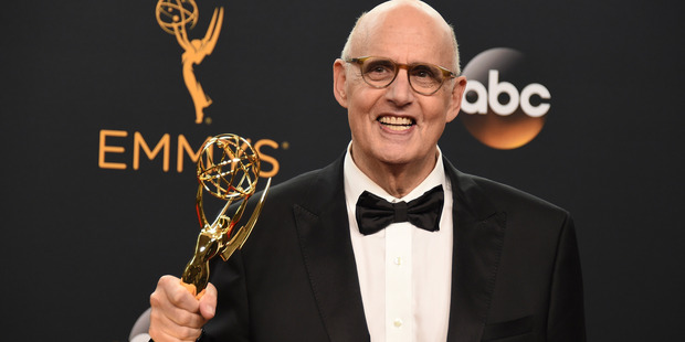 Jeffrey Tambor winner of the award for outstanding lead actor in a comedy series for Transparent. Photo / AP