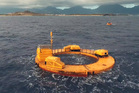 The Lifesaver wave energy device, which is converting the movement of waves into electricity at the Navy's Wave Energy Test Site. Photo /AP