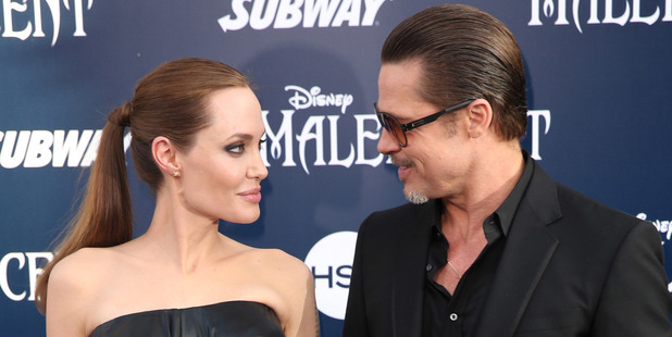 Angelina Jolie and Brad Pitt at the 2008 world premiere of 'Maleficent'. Photo / AP