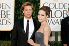 Brad Pitt, and Angelina Jolie arrive for the 64th Annual Golden Globe Awards in Beverly Hills. Photo / AP