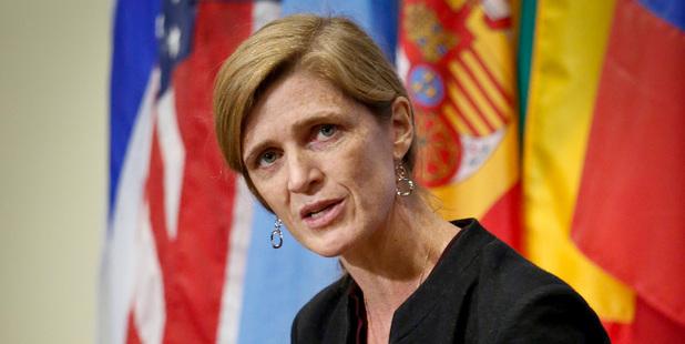 United States U.N. ambassador Samantha Power. Photo / AP