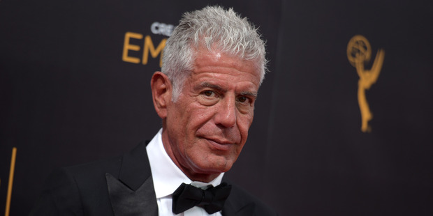 Bourdain's show Parts Unknown won its fourth consecutive Emmy Award for Outstanding Informational Series or Special this month. Photo / AP
