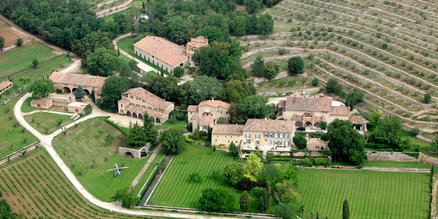Loading The Miraval estate is located in a village called Brignol, near Aix-en-Provence, France. Photo / AP