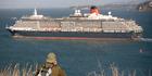 Cunard's Queen Victoria leaves Auckland during her maiden voyage around the world in 2008. Photo / NZ Herald
