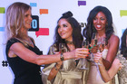 Real Housewives of Auckland drinking wine at their Launch Party. Photo / Norrie Montgomery
