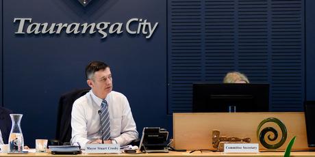 Council meeting. Stuart Crosby. Photo/George Novak
