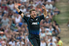 Black Caps bowler Corey Anderson. Photo / Alan Gibson.
