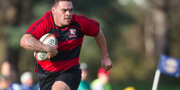 CHARGE: Whakarewarewa's Jesse Mason-Grant was a try scorer for the Bay of Plenty under 19s in their opening game win at the Jock Hobbs National Under 19 Tournament.