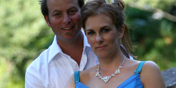 Samantha Kudeweh, pictured here with her husband Richard. Photo / supplied.