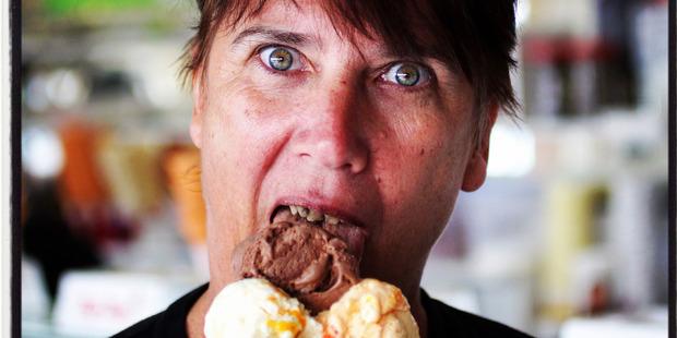 A portrait taken at The Pokeno Ice Cream shop. Photo / Doug Sherring