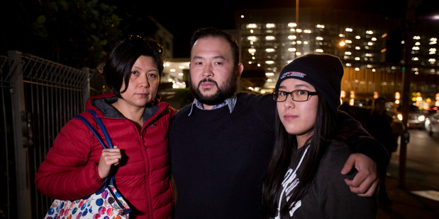 Members of Nancy Voon's family, from left, Carmen Phua, Chee Phua and granddaughter Lydia Chin. PHOTO / FILE