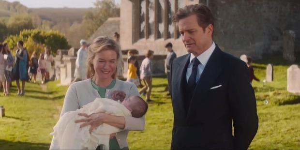 Renee Zellweger and Colin Firth in Bridget Jones's Baby.