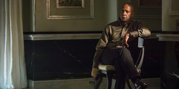 Denzel Washington in a scene from The Equalizer.