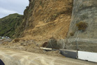 State Highway 3, south of Mokau, is on track to be re-opened tomorrow afternoon following a major slip on Sunday. Photo/ supplied