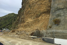 Slip closes State Highway 3, south of Mokau. Photo/NZTA Felicity Connell