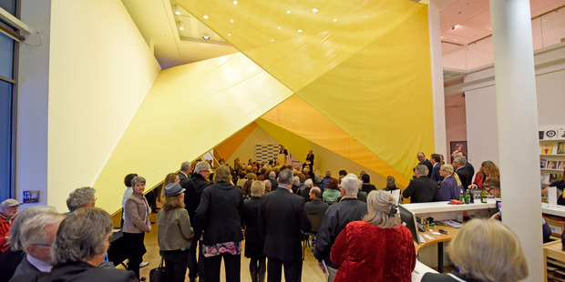 Tauranga Art Gallery was packed out at a Meet the Candidates event put on by Tauranga Chamber of Commerce. Photo/file
