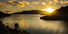 Sunrise over Mount Tarawera. PHOTO/FILE