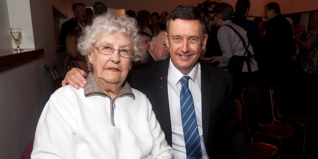 Stuart Crosby with his mother Thelma Crosby celebrating 30 years in local body politics. Photo/Andrew Warner.