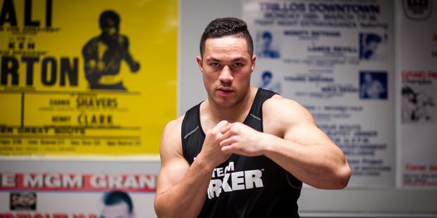 Boxer Joseph Parker. Photo / Dean Purcell.