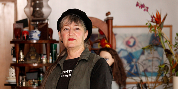 Auckland mayoral candidate Penny Bright. Photo / Chris Gorman