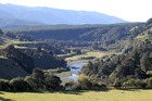 The site of the proposed 80-metre Ruataniwha Dam, over the Makaroro River.  Photo /  Duncan Brown