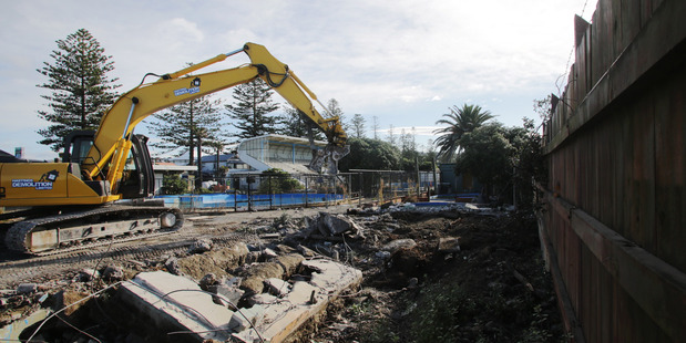 REVAMPED:Demolition work began in May on the Marineland site where a revamped skatepark will be built, part of the Napier City Council's ongoing Marine Parade development. PHOTO/FILE