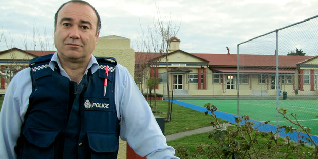 ON THE CASE: Senior Constable Pehi Potaka says school burglaries are a particular bugbear. PHOTO FILE