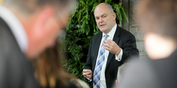 Steven Joyce noted the West Coast had been affected by global economic headwinds. Photo / Warren Buckland