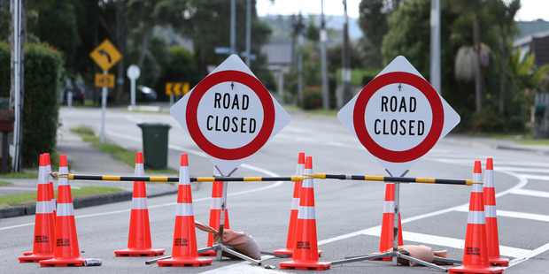 Two roads would be closed in Tauranga over the weekend. Photo/file