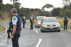 Armed police from Whangarei and Kawakawa stopped all cars entering and leaving the Karikari Peninsula after the sighting of Rawden