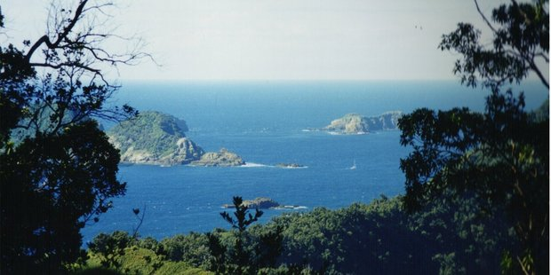 View from Raoul Island, Kermadec Islands.