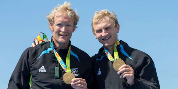 New Zealand's Hamish Bond and Eric Murray. Photo / John Cowpland / photosport.